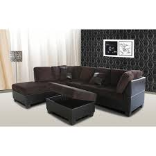 Corduroy Sectional Sofa Venetian Worldwide 2 Chocolate Brown Corduroy