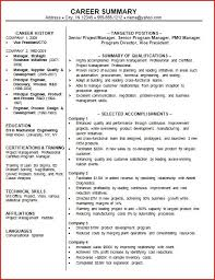 Pmo Manager Resume Sample Professional Summary Resume Examples Resume Example And Free
