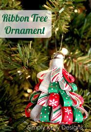 diy ribbon tree ornament simply designs