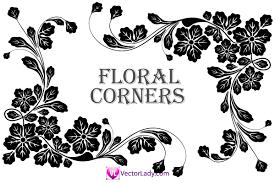flower corner vector clip 123freevectors