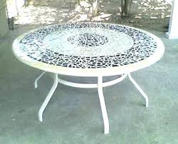 Mosaic Top Patio Table Mosaic Table Outdoor Outdoor Mosaic Patio Table With Bench Seats