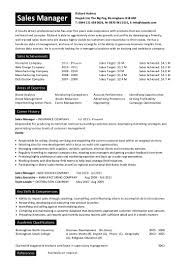 Sample Resumes For Sales Executives Sales Manager Cv Sample For Students