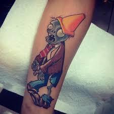 cartoon couple tattoos plants vs zombies tattoo venice tattoo art designs