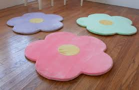 baby nursery room decoration with colorful flower shaped