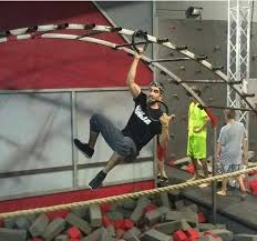 american ninja warrior competitor trained on backyard obstacle