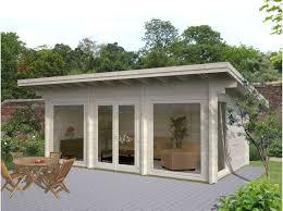 bureau de jardin en kit bureau de jardin martinique 20 m2 70 mm direct abris
