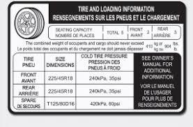 hyundai sonata 2006 tire size hyundai sonata tire and loading information label vehicle load