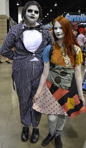 jack and sally nightmare before christmas cosplay at denver comic