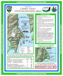 Hunting Island State Park Map by Caines Head State Recreation Area