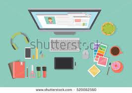 Graphic Designer Desk Free Designer Desk Illustration Download Free Vector Art Stock