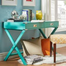blue writing desk inspire q kenton x base wood accent campaign writing desk by