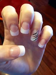 white tip with design asian image cute hair and nails pinterest