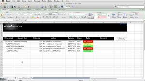 Project Time Tracking Template by Excel An Automated Action Tracker Youtube