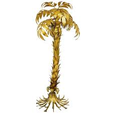 gilt metal palm tree floor lamp by hans kogl germany maison