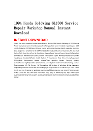 1994 honda goldwing gl1500 service repair workshop manual instant dow u2026