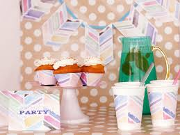 cheap party supplies diy watercolor party decorations hgtv