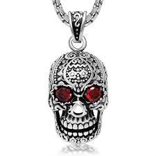skull pendant necklace images Trendsetter fashion retro red eyes skull pendant jewelry jpg