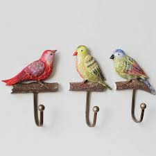 Decorative Coat And Hat Hooks Vintage Country Style Bird Wall Hook Hanger For Clothes Coat Hat