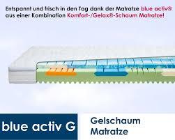 matratze 100x200 diamona blue activ g 100 x 200 cm preisvergleich matratze