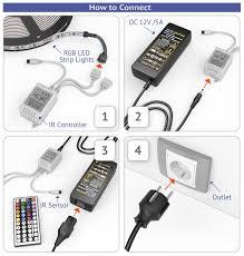 how to install led strip lights amazon com new 2018 led strip lights kit u2013 32 8ft 10m 300 leds