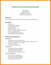 Objective For Dental Hygienist Resume 7 Dental Assistant Objective Science Resume
