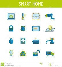 smart home automation technology icons set royalty free stock