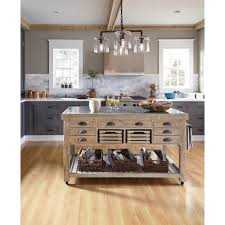overstock kitchen islands kosas home deni washed grey blue and reclaimed pine kitchen
