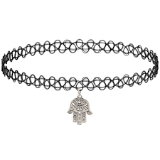 tattoo chokers necklace images Girlprops tattoo choker necklace hamsa charm popular jpg