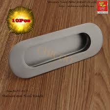 aliexpress com buy 10pcs oval flush recessed pull door handle