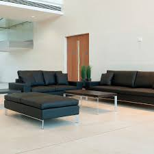 contemporary sofa contemporary sofa leather steel fabric stirling allermuir