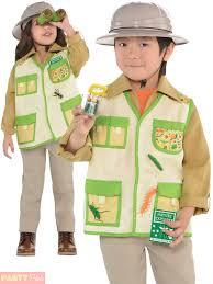 child jungle explorer costume boys girls safari fancy dress book