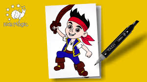 pirate coloring pages for kids jake never land coloring book