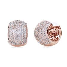 cubic zirconia earrings accent sterling silver 14k gold plated cubic