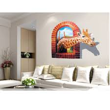 wall stickers cheap china online wholesale buy stores shop 3d wall sticker animal style giraffe image used for children room