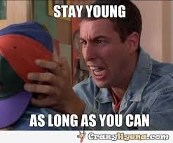 Meme Young - meme with adam sandler looking crazy and young