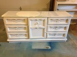 yard sale dresser turned stylish buffet