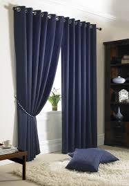 98 Drapes Jacquard Check Navy Blue Lined Ring Top Eyelet Curtains Drapes 6