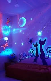 How To DIY Glow In The Dark Paint Wall Murals Fun Art Projects - Kids bedroom wall designs