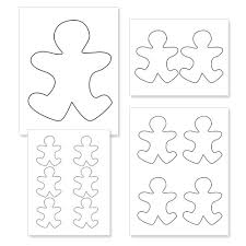 gingerbread man outline full page clipart library clip art library
