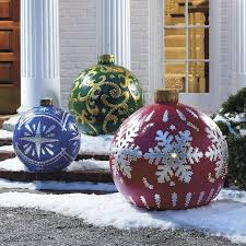 Outdoor Christmas Decorations Tree Balls by Outdoor Christmas Ornaments Learntoride Co