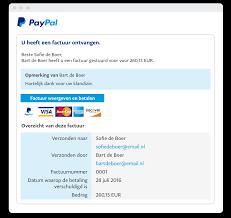 Per Direct Geld Op Rekening Verstuur Facturen Via E Mail Zakelijke Oplossingen Van Paypal