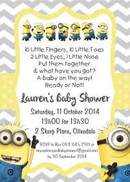 minions baby shower impressive ideas minion baby shower invitations gangcraft net