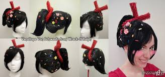 vanellope schweetz costume vanellope schweetz wig all the sprinkles and candies are sewn