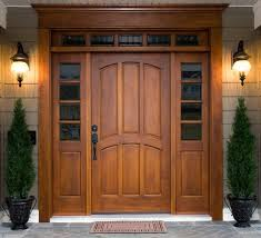 Solid Exterior Doors Wood Front Ent Wood Front Door With Sidelight Solid Wood