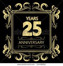 25 wedding anniversary 25th wedding anniversary stock images royalty free images