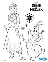 coloriages la reine des neiges anna et olaf fr hellokids com