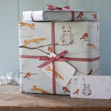 christmas wrapping paper sets winter woodland christmas gift wrap set by inkpaintpaper
