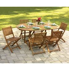 Patio Tables And Chairs On Sale The Gateleg Patio Table And Stowable Chairs Hammacher Schlemmer