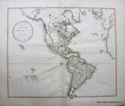 North And South America Map by New General Map Of America North And South Sold