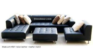 Left Sided Sectional Sofa Black Leather Sectional Sofa 4pc Modern Design S4707l 1
